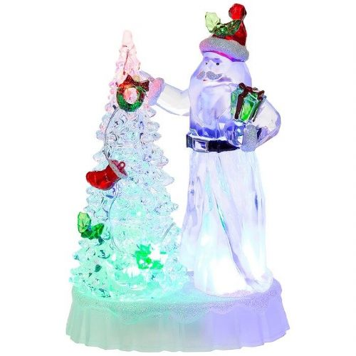 LED Santa with Flashing Lights Christmas Tree Novelty Decoration